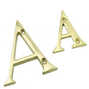 Dale Hardware Polished Brass 76mm Door Letters
