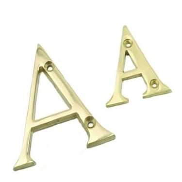 Polished Brass 76mm Door Letters
