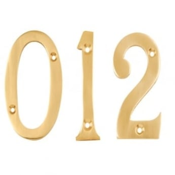 Dale Hardware Polished Brass 76mm Door Numerals No. 0-9