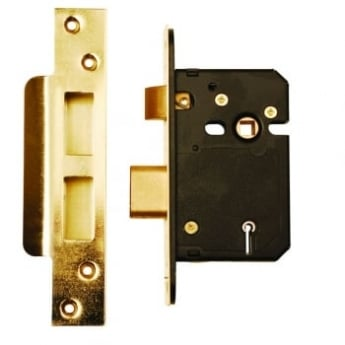 Dale Hardware Polished Brass BS3621 5 Lever Mortice Sash Lock