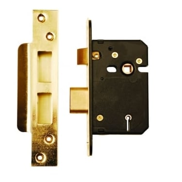 Polished Brass BS3621 5 Lever Mortice Sash Lock