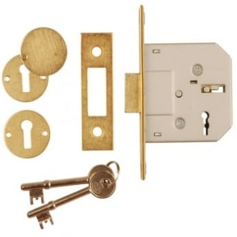Dale Hardware Polished Brass Euro Profile Mortice Dead Lock Case