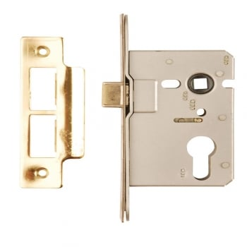 Dale Hardware Polished Brass Euro Profile Mortice Sash Lock Case