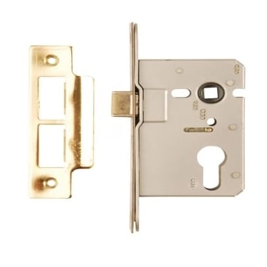 Polished Brass Euro Profile Mortice Sash Lock Case