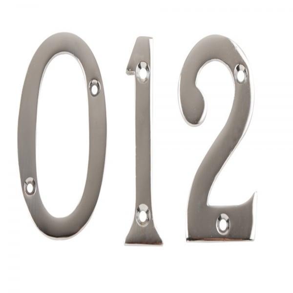 Polished Chrome 76mm Door Numerals - Number 9  sc 1 st  Leader Doors & Dale Hardware 76mm Door Numerals No. 0-9 | Leader Doors