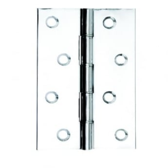 Dale Hardware Polished Chrome Double Phosphor Bronze Washered Hinge (Pair)