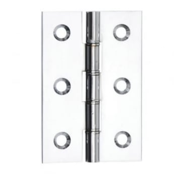 Dale Hardware Polished Chrome Double Steel Washered Hinge (Pair)