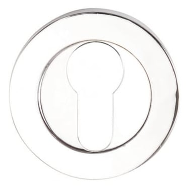 Dale Hardware Polished Chrome Round Euro Escutcheon (Pair)