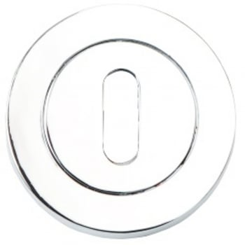 Dale Hardware Polished Chrome Round Keyhole Escutcheon (Pair) (DH003681)