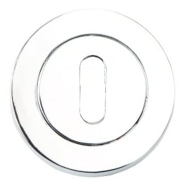 Dale Hardware Polished Chrome Round Keyhole Escutcheon (Pair)