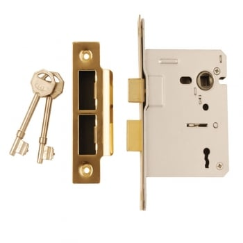 Dale Hardware Polished Electro Brass 3 Lever Mortice Sash Lock