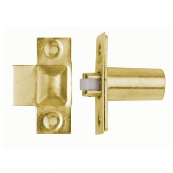 Dale Hardware Polished Electro Brass Adjustable Roller Catch (DH00221)