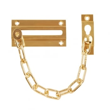 Dale Hardware Polished Electro Brass Standard Door Chain (DH00310F)
