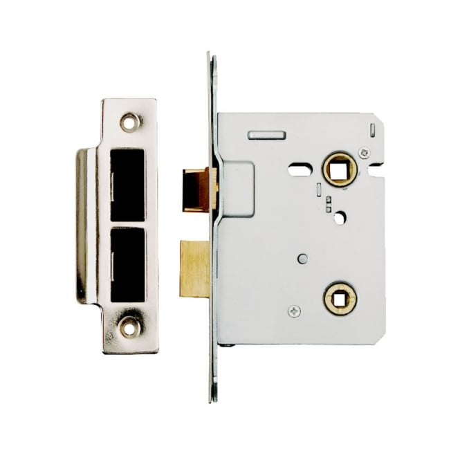 Dale Hardware Polished Stainless Steel Bolt Through Bathroom Lock