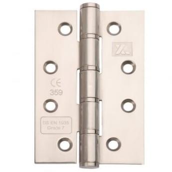 Dale Hardware Polished Stainless Steel CE7 Washered Hinge (Pair)