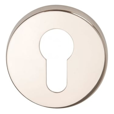 Polished Stainless Steel Round Euro Escutcheon (DH003723a)
