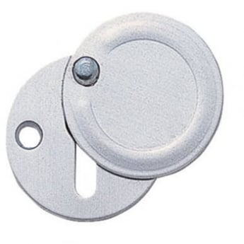 Dale Hardware Satin Anodized Aluminium Covered Escutcheon