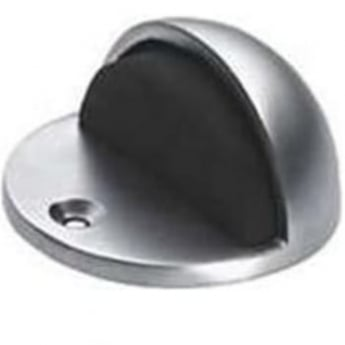 Dale Hardware Satin Anodized Aluminium Oval Door Stop