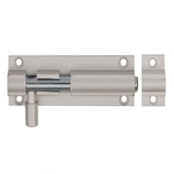 Dale Hardware Satin Anodized Aluminium Straight Barrel Bolt