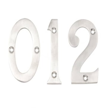 Satin Chrome 76mm Door Numerals No. 0-9  sc 1 st  Leader Doors & Door Numerals \u0026 Letters Dale Hardware Door Hardware
