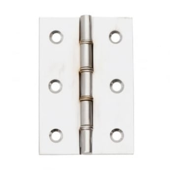 Dale Hardware Satin Chrome Double Steel Washered Hinge (Pair)