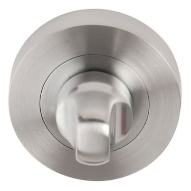 Dale Hardware Satin Chrome Round Bathroom Turn & Release