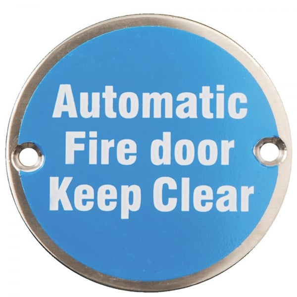 Keep Clear Of Swinging Door : Dale hardware automatic fire door keep clear pictogram