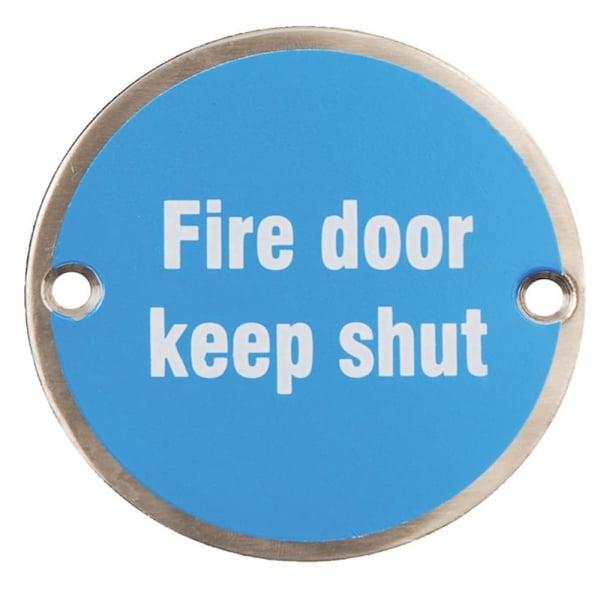 Dale Hardware Fire Door Keep Shut Pictogram Disc Leader