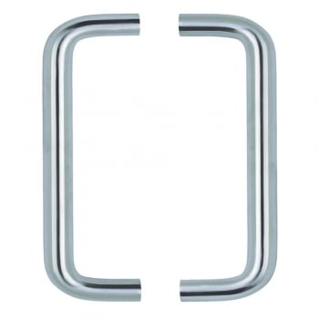 Dale Hardware Satin Stainless Steel Back to Back Pull Handle (Pair)