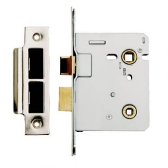 Dale Hardware Satin Stainless Steel Bolt Through Bathroom Lock