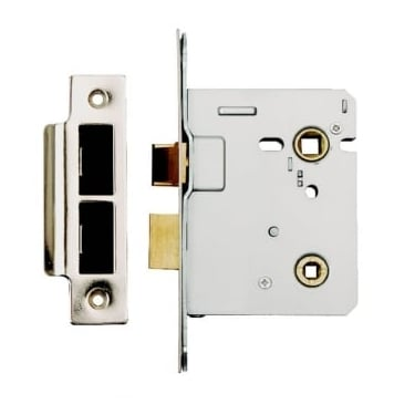 Satin Stainless Steel Bolt Through Bathroom Lock