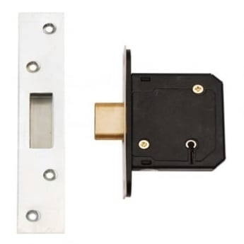 Dale Hardware Satin Stainless Steel BS3621 5 Lever Mortice Dead Lock