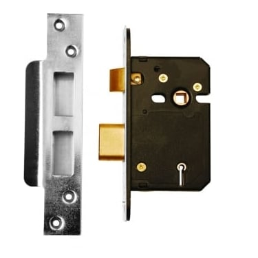 Satin Stainless Steel BS3621 5 Lever Mortice Sash Lock