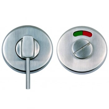 Dale Hardware Satin Stainless Steel Round Disabled Bathroom Turn & Release With Indicator (DH003715)