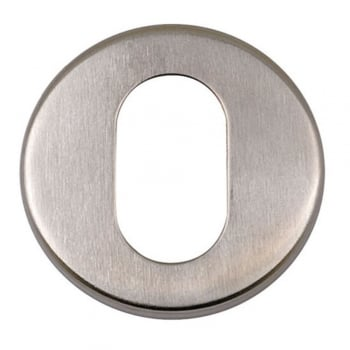 Dale Hardware Satin Stainless Steel Round Oval Escutcheon (DH003714)