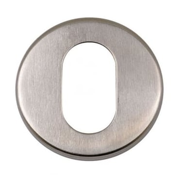 Satin Stainless Steel Round Oval Escutcheon (DH003714)