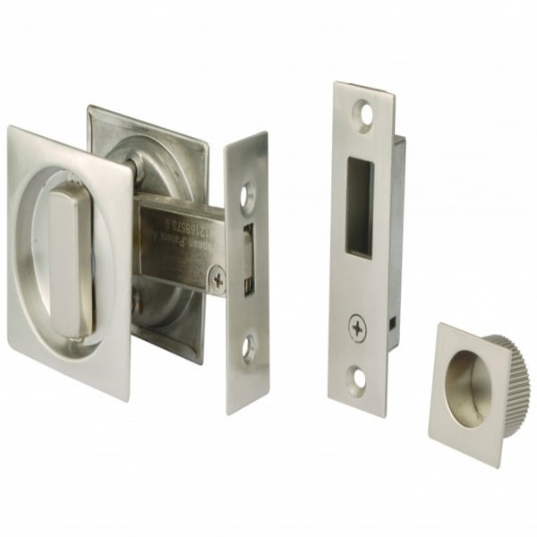 Dale Hardware Square Sliding Door Bathroom Hook Lock
