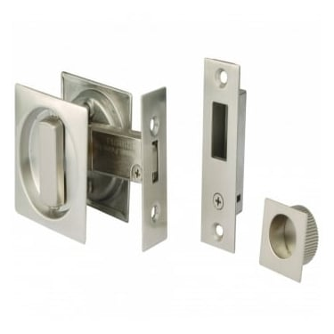 Satin Stainless Steel Square Sliding Door Bathroom Hook Lock (DH002130)