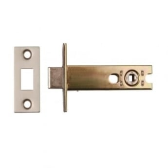 Dale Hardware Satin Stainless Steel Tubular Deadbolt & Follower