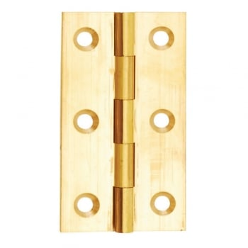 Dale Hardware Solid Drawn Butt Hinge Self Colour Brass (Pair) - 102 x 67mm
