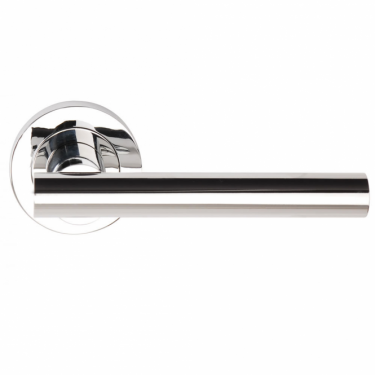 Sultan Polished Chrome Lever On Round Rose Handle