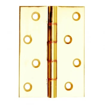 Dale Hardware Washered Hinge Polished Brass Double Phosphor Bronze (Pair)