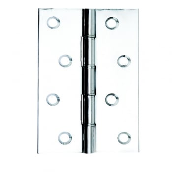 Dale Hardware Washered Hinge Polished Chrome Double Phosphor Bronze (Pair)