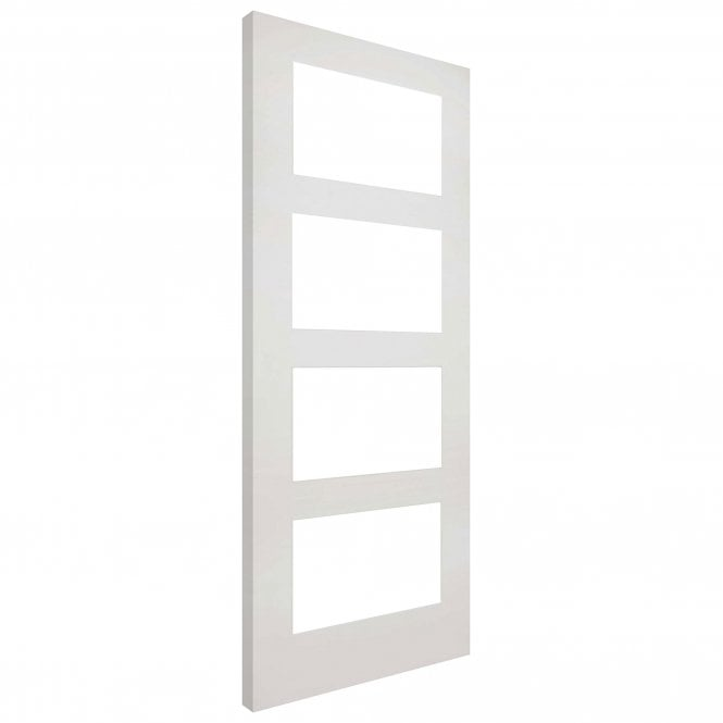 Deanta Coventry Internal White Primed Door with Clear Glass