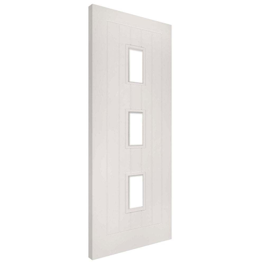 Deanta ely white primed clear glass internal door leader - White doors with glass internal ...