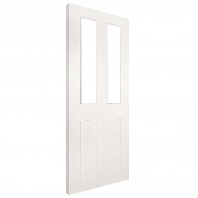 Deanta Eton Internal White Primed Door with Clear Glass