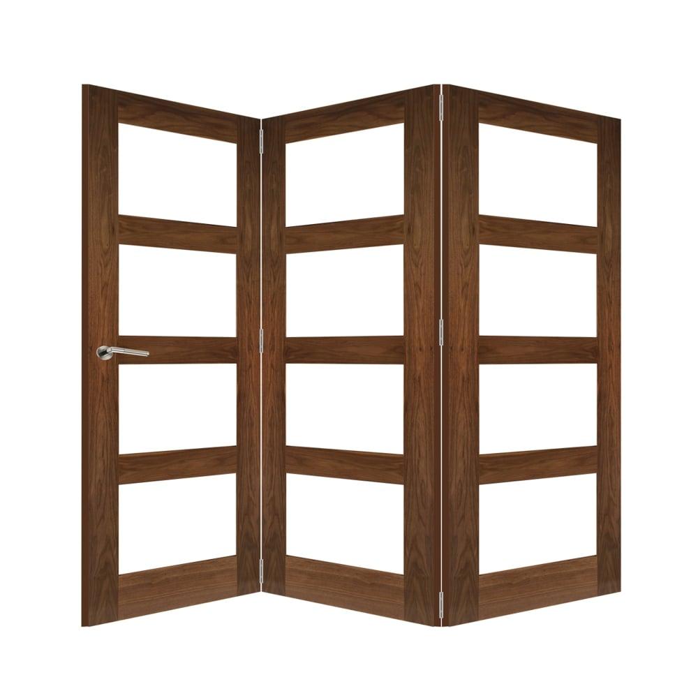 Deanta Fold Walnut Room Divider Frame | Leader Doors
