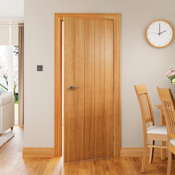 Georgian Pre-Finished Oak Architrave Set (AROKFJGE) & Deanta Georgian Pre-Finished Oak Architrave Set | Leader Doors