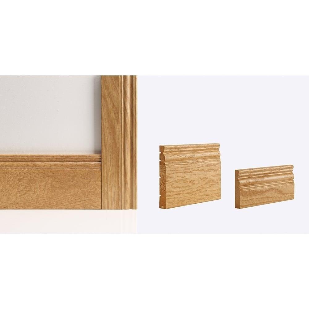 Deanta georgian pre finished oak architrave set leader doors for Door architrave