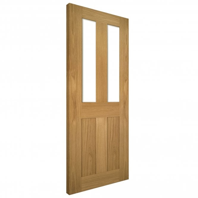 Deanta Internal Oak Unfinished Eton 2L Solid Door with Clear Glass